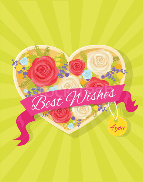 Best Wishes Bright Poster Vector Illustration Stock photo © robuart