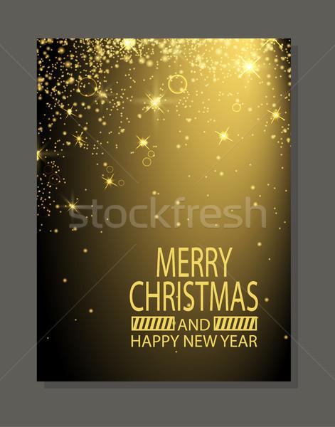 Heiter · Weihnachten · Neujahr · glückliches · neues · Jahr · Plakat ...