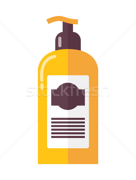 Bottle of Luxurious Skin Lotion with Dispenser Stock photo © robuart