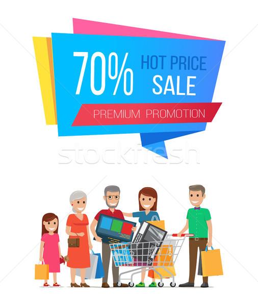 Forró ár vásár prémium promóció poszter Stock fotó © robuart