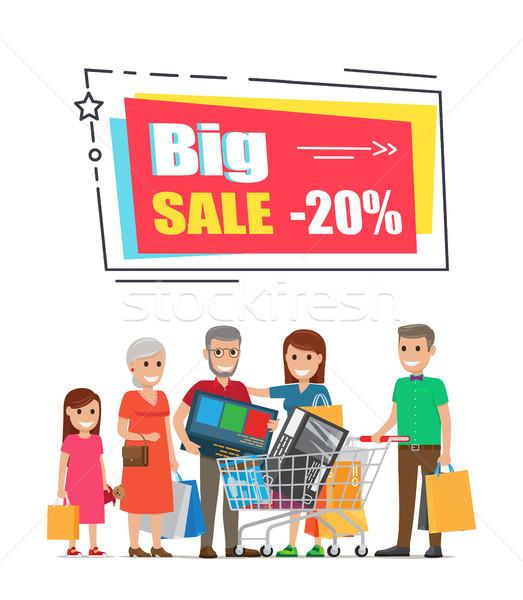 Büyük satış promo etiket çerçeve 20 Stok fotoğraf © robuart