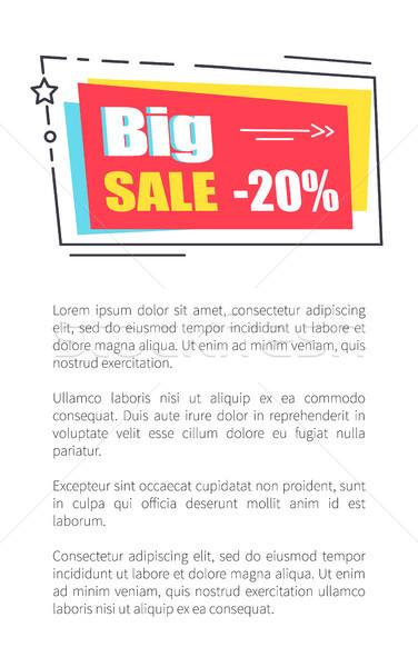 Big Sale Promo Sticker in Square Shape Frame 20  Stock photo © robuart