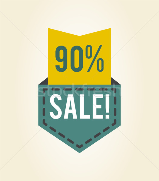 90 off Sale Clearance Icon Vector Illustration Stock photo © robuart