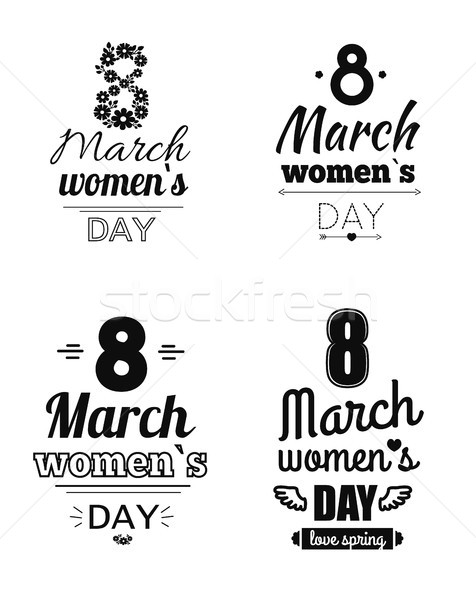 Collection template Day March Eight Greetings Design Stock photo © robuart