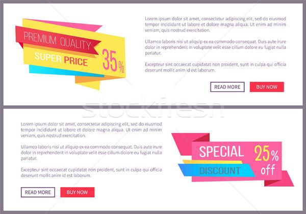 Zestaw sprzedaży oferta specjalna celu teraz internetowych Zdjęcia stock © robuart
