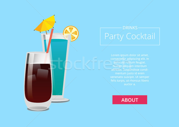 Drinks Party Cocktail Promo Poster with Beverage Stock photo © robuart