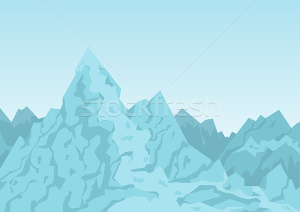 Mountains of Blue Color Image Vector Illustration Stock photo © robuart