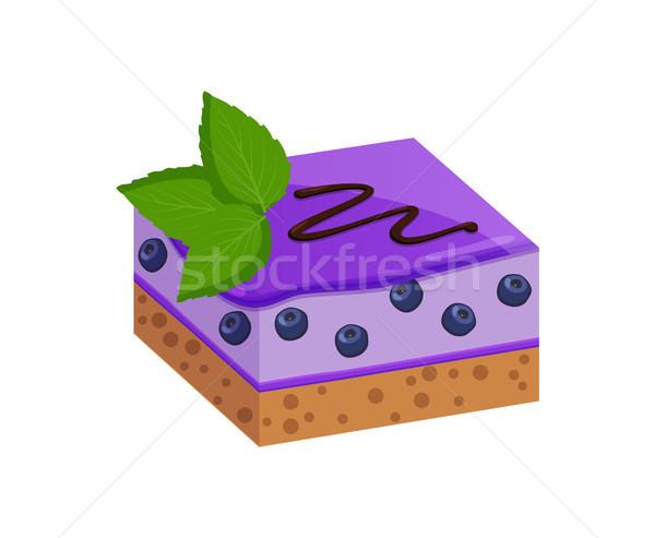 作品 フルーツケーキ ブルーベリー 層 ビスケット 装飾された ストックフォト © robuart
