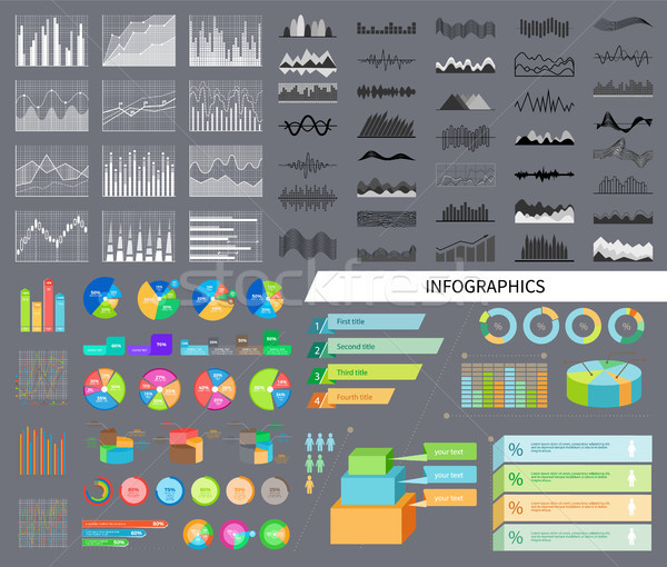 Infographics and Diagrams Set Vector Illustration Stock photo © robuart