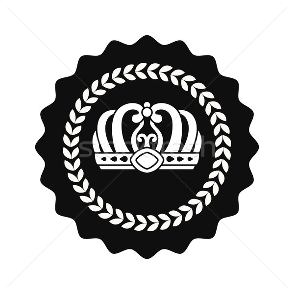 Kings Crown in Circle Isolated Monochrome Emblem Stock photo © robuart