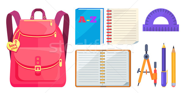 Rucksack Fashionable Model and School Accessory Stock photo © robuart