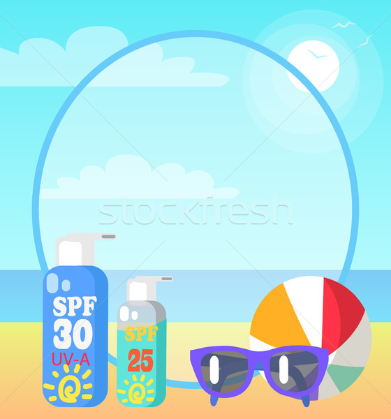 Poster of Beach and Things Often Taken There Stock photo © robuart