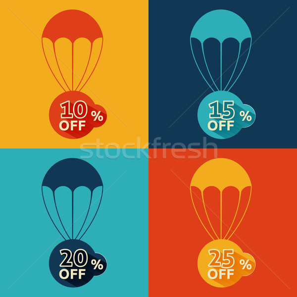 Discount parachute set Stock photo © robuart