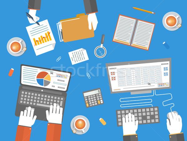 ストックフォト: チームワーク · ビジネス · デザイン · オフィス · マーケティング · アイコン