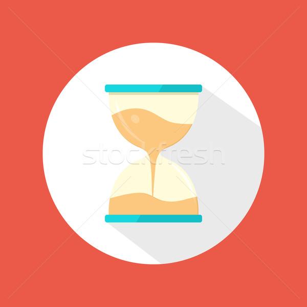 Sand clock icon Stock photo © robuart