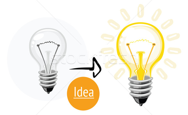 Idea concept with lightbulb Stock photo © robuart