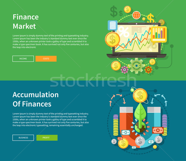 Finance Market and Accumulation of Finances Stock photo © robuart