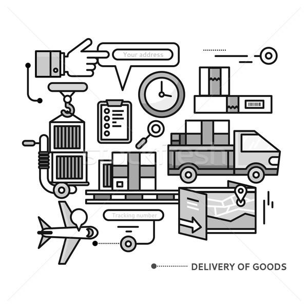配信 サービス 税関 輸送 製品 ストックフォト © robuart