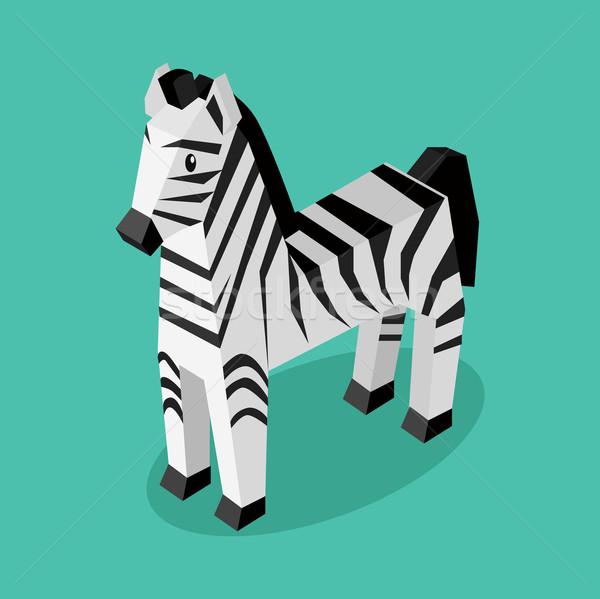 Isomeric Animal Zebra Isolated Stock photo © robuart