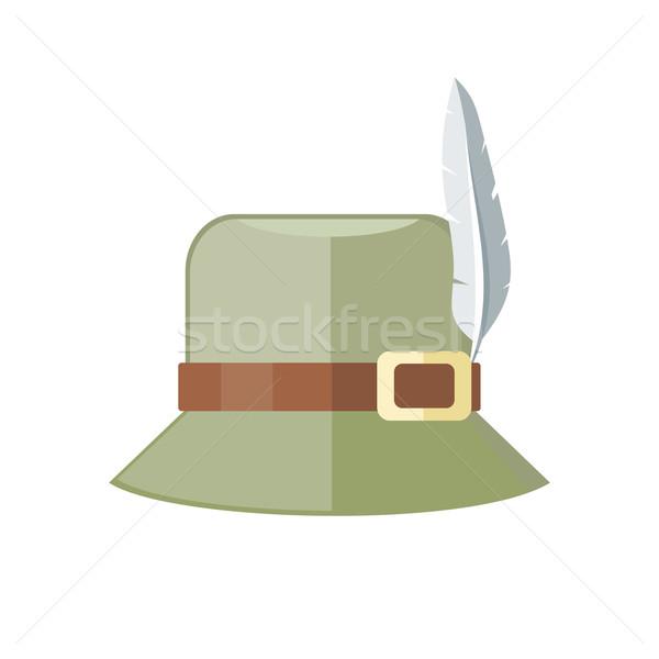 Nyár kalap izolált fehér zöld Panama Stock fotó © robuart