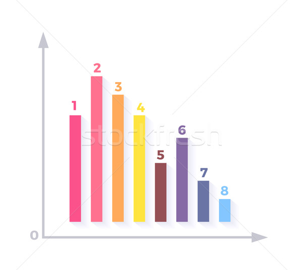 Level Chart with Colored Arrows Stock photo © robuart