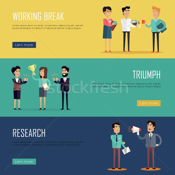 Sociale lavoro di squadra progettazione di siti web modello concetti business Foto d'archivio © robuart