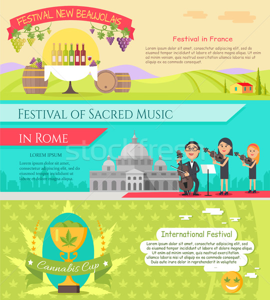 Italy National Festivals in Flat Style Design Stock photo © robuart