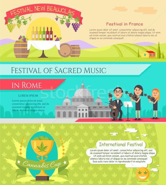 Olaszország fesztiválok stílus terv fesztivál új Stock fotó © robuart