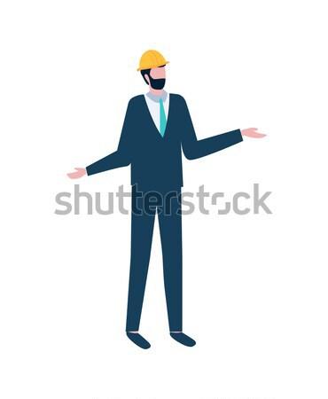 Werknemer uniform ontwerp isometrische projectie man Stockfoto © robuart