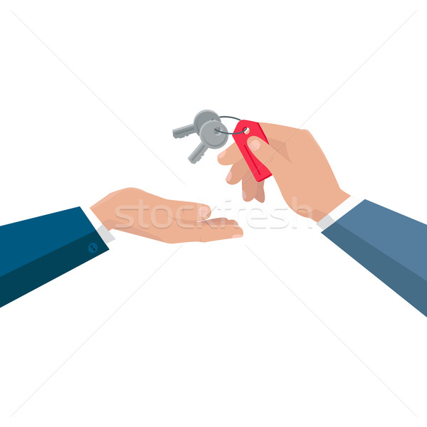 Stock photo: Keys From Dwelling Vector Concept In Flat Design.