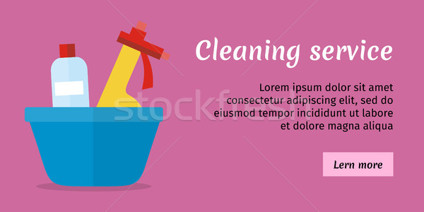 Cleaning Service Banner Stock photo © robuart