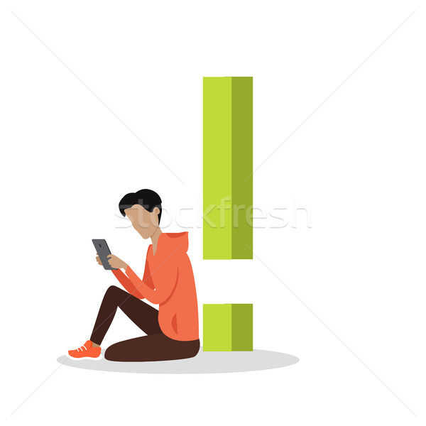 Gadget Alphabet. Exclamation point Stock photo © robuart