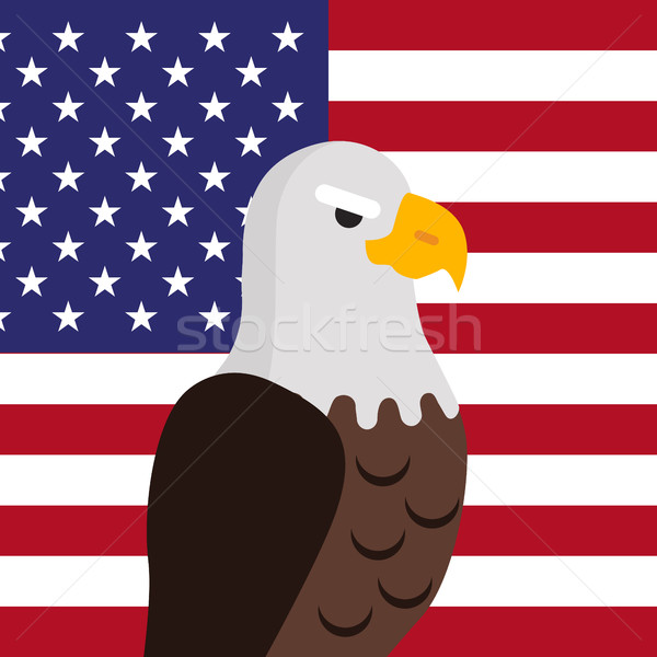 Bald Eagle Flat Design Vector Illustration Stock photo © robuart