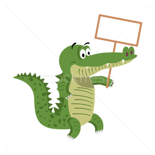 Cartoon crocodiles vide vecteur cute crocodile Photo stock © robuart