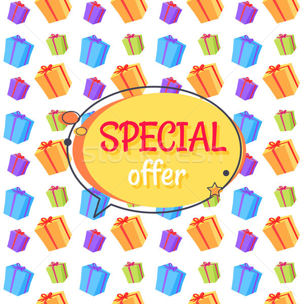 Special Offer Sale Advertisement Seamless Pattern Stock photo © robuart