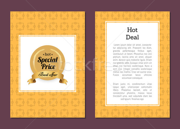 Hot Deal Special Price Best Offer Golden Label Stock photo © robuart