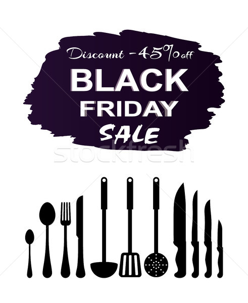 Black Friday Sale Postcard Vector Illustration Stock photo © robuart