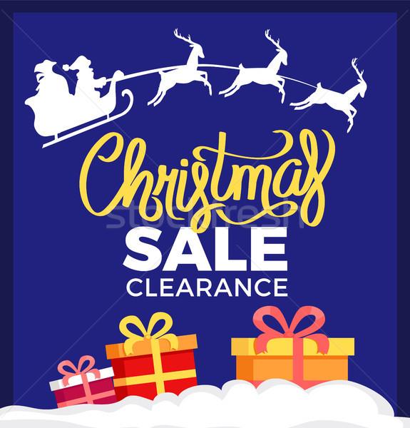 Christmas Sale Clearance Card Vector Illustration Stock photo © robuart