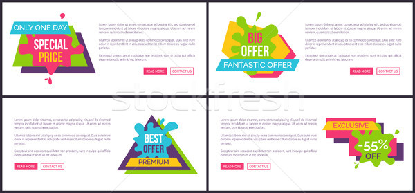 Only Today Special Price Set Vector Illustration Stock photo © robuart