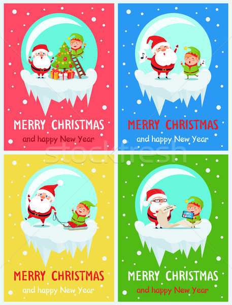 Merry Christmas Activities Vector Illustration Stock photo © robuart