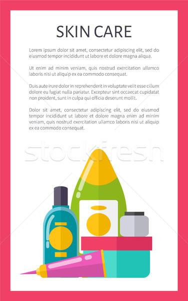 Skin Care Poster with Text Vector Illustration Stock photo © robuart