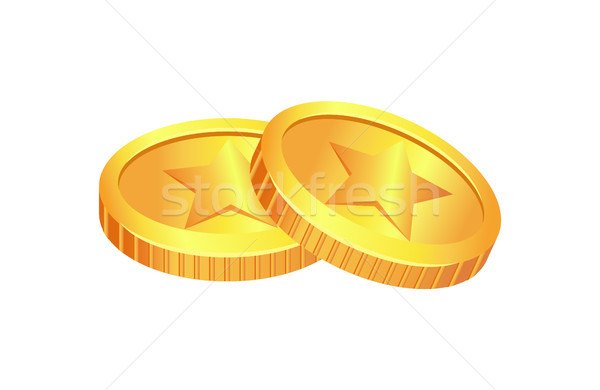 Coins Made of Gold Material Vector Illustration Stock photo © robuart