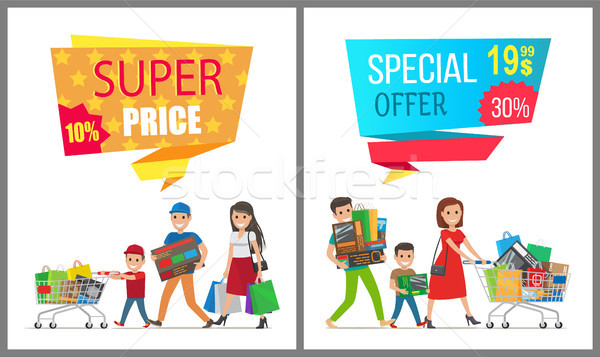 Super Price Special Offer Card Vector Illustration Stock photo © robuart