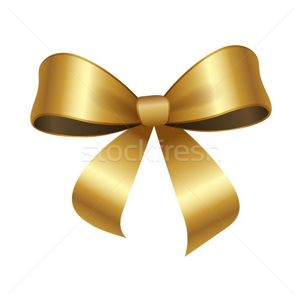 Altın yay düğüm iki dekoratif Stok fotoğraf © robuart