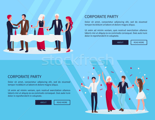 Web Page Corporate Party on Vector Illustration Stock photo © robuart