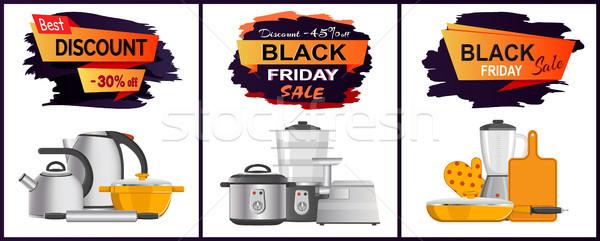 черная пятница лучший продажи объявление кухонные принадлежности электроника Сток-фото © robuart