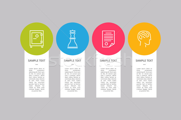 Infographic Elements Collection Vector Illustration Stock photo © robuart
