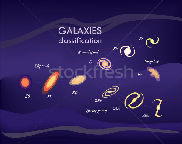 Galaxies and Information, Vector Illustration Stock photo © robuart
