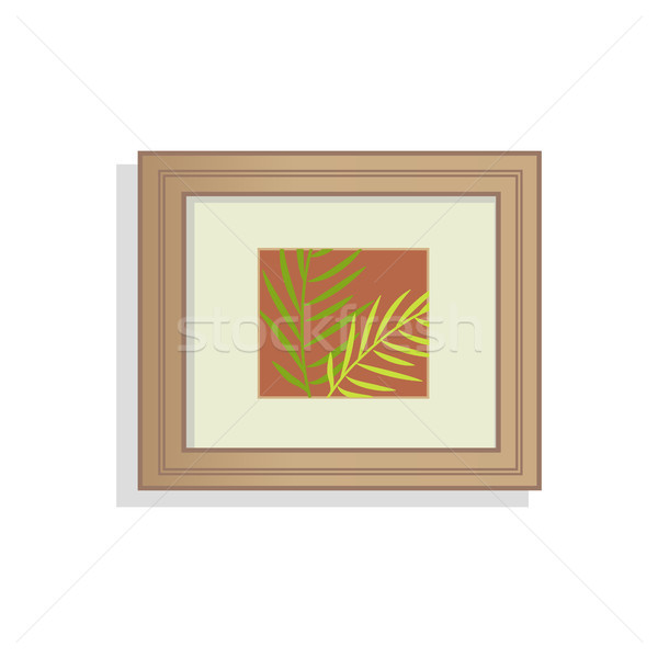 Interior Decoration Picture Vector Illustration Stock photo © robuart