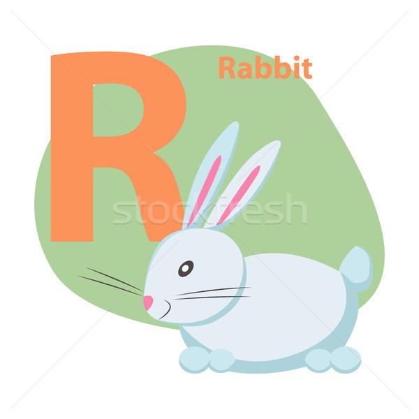 Grădină zoologică scrisoare drăguţ iepure desen animat vector Imagine de stoc © robuart